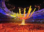 奥运圣火熄灭后燃放的焰火