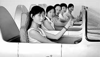 陕西学员孙美模拟驾驶