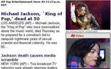 迈克尔杰克逊去世 美联社