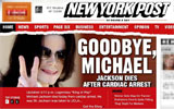 迈克尔杰克逊去世 纽约邮报