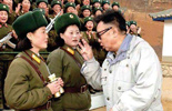 金正日关心军营中的女兵