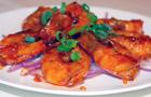 美食厨房,广州花城海鲜酒家,粤菜,广州美食,茄汁干煎虾,美食图片