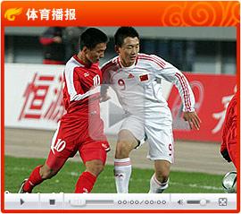 金敬道小角度破门武磊扫射 亚青赛国青3-0朝鲜