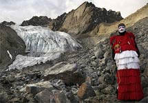 """关注哥本哈根气候大会:秘鲁""""神圣冰川""""在融化"""