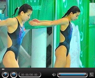 郭晶晶吴敏霞表现完美 东亚运女双3米板折桂