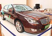 北汽展示纯电动汽车