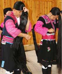 广西龙胜长发村的女人们