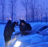 石家庄迎54年来最大降雪 积雪厚度48厘米