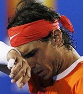 纳达尔因伤退赛 卫冕冠军几落泪
