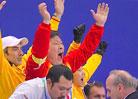 中国教练组欢庆
