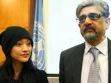 周迅与联合国计划署官员