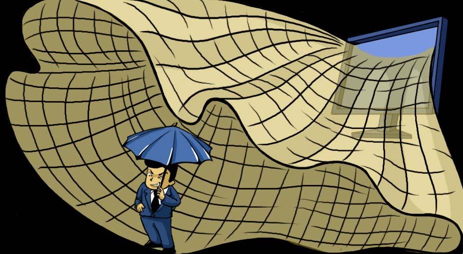 网民撒网难奈官员的保护小伞