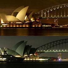 澳大利亚悉尼:歌剧院熄灯前后