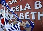 希腊球迷呐喊助威