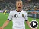 波多尔斯基左脚劲射破网 世界杯德国VS澳大利亚