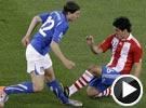 里贝罗斯险铲伤蒙托利沃 世界杯意大利VS巴拉圭