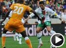 C罗脚踝被踢走路变瘸  世界杯科特迪瓦VS葡萄牙