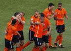 荷兰队球员庆祝