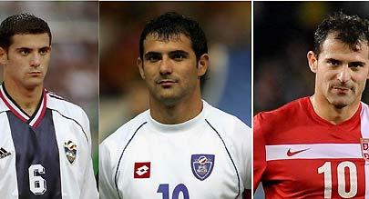 斯坦科维奇代表三个国家参加世界杯