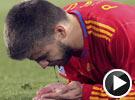 皮克面部遭袭吐血不止 世界杯西班牙VS洪都拉斯