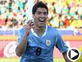 乌拉圭-苏亚雷斯(9号)破门得分