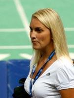 金发美女惊艳亮相,2010羽毛球世锦赛