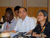 来自日本和非洲的记者与南京大学的陈星博士