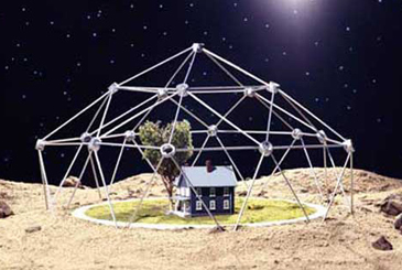 我们设计的在月球上的房子
