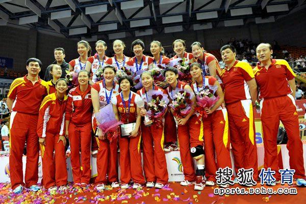 中国女排获得冠军