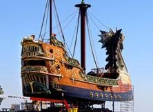 《纳尼亚传奇3》龙头船全景