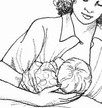 母乳喂养的正确姿势图解