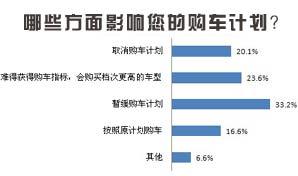 民意调查:哪些方面影响您的购车计划?