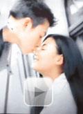 张柏芝早年与陈冠希合拍地铁广告