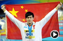 视频-孙杨1500自由泳夺冠 破尘封10年世界纪录