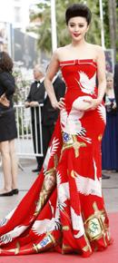 女星礼服上的中国元素