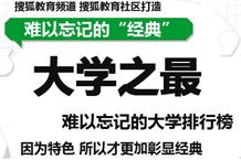 搜狐教育2012高考 大学排行榜