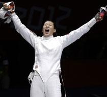 中国女子重剑团体夺金