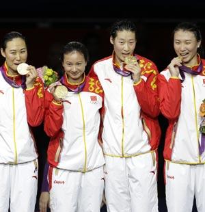 中国第二十五金—— 中国女子重剑团体 - 快活颂 - 快活颂的博客