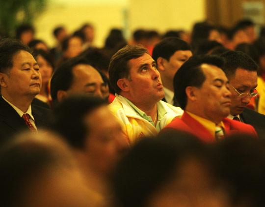 2008年10月6日,北京奥运会表彰大会,皮划艇教练马克出席