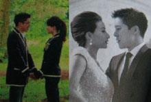 2012年10月郭晶晶和霍启刚立体婚纱照首度曝光
