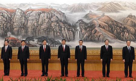 多次见证新一届领导人亮相巨幅国画是谁画的? - 张满志 - 张满志.力量