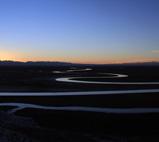 新疆巴音布鲁克天鹅湖初冬美景