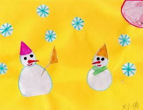 两个小雪人 作者:小伟