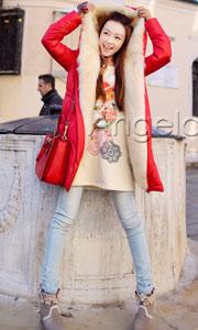 天使之城韩版羽绒衣外套