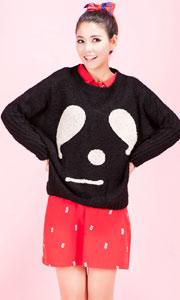 韩版时尚可爱宽松毛衣