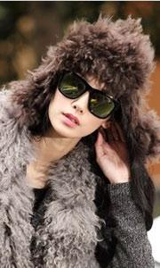 欧美风羊毛保暖潮帽