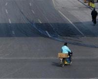 春节苏州空荡荡的街头