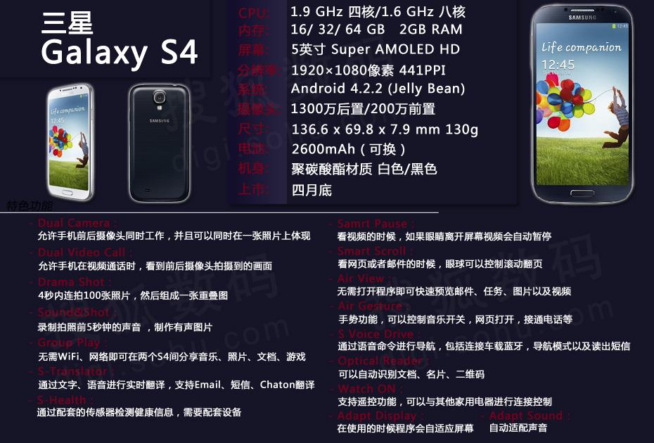 三星GALAXY S4宣傳片全功能演示