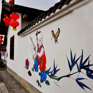 绵竹年画古镇的规划借鉴了著名江南水乡乌镇的设计