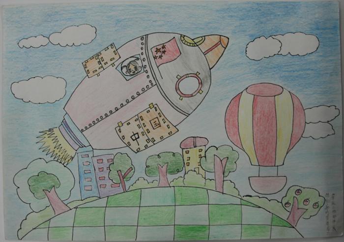 以航天员为主题的儿童画的
